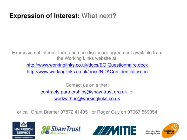 Expression of Interest: