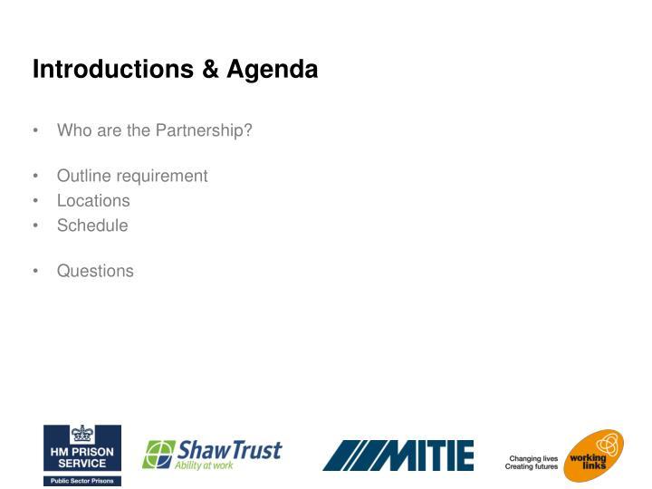 Introductions & Agenda