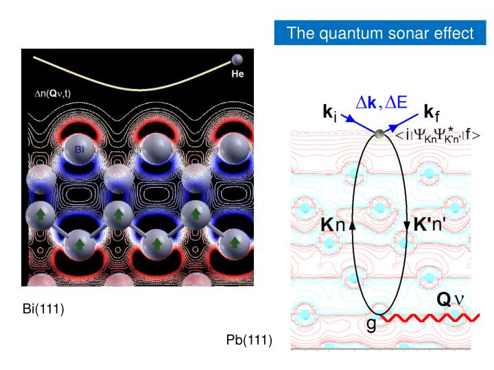 The quantum sonar effect