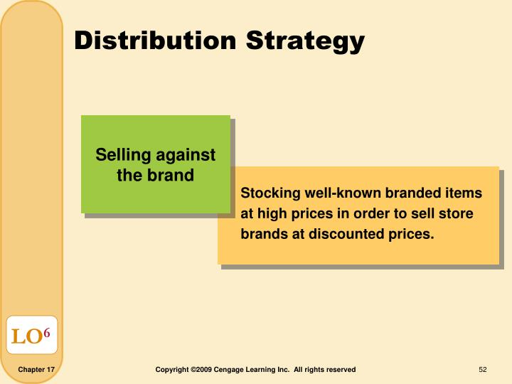 Stocking well-known branded items at high prices in order to sell store brands at discounted prices.