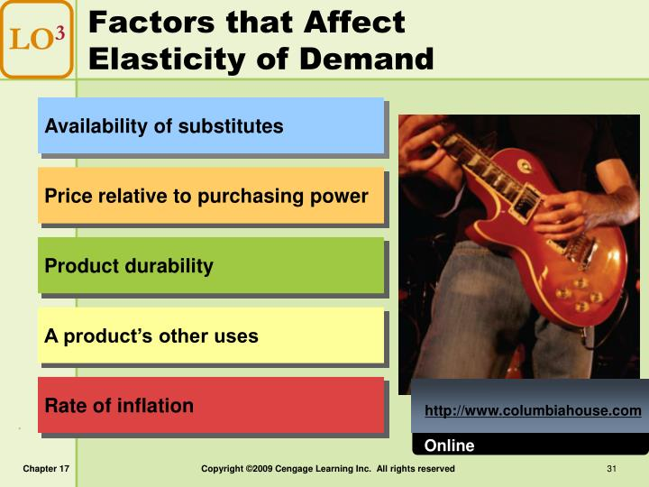 Factors that Affect Elasticity of Demand