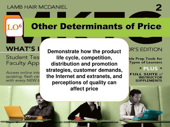 Other Determinants of Price