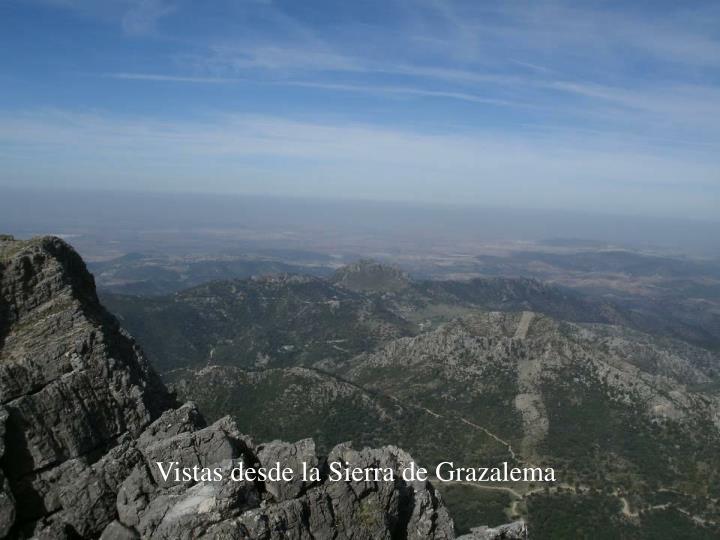 Vistas desde la Sierra de Grazalema
