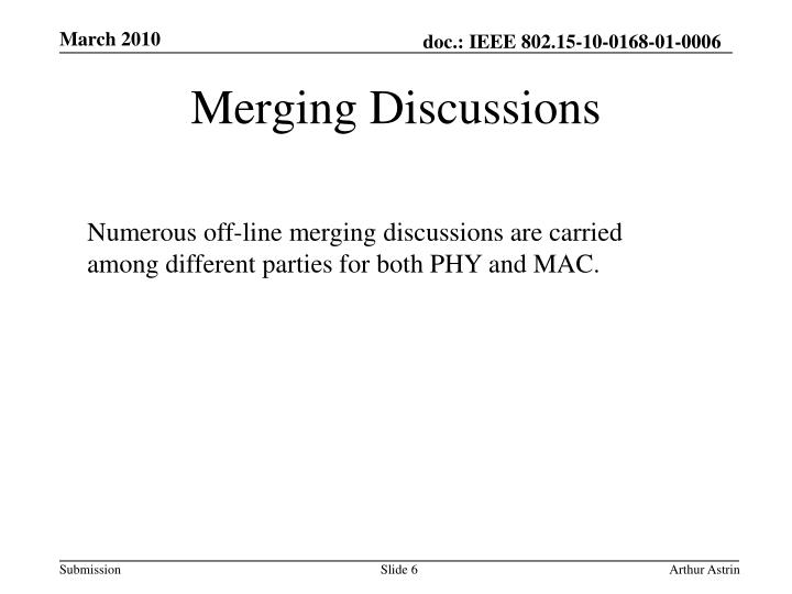 Merging Discussions