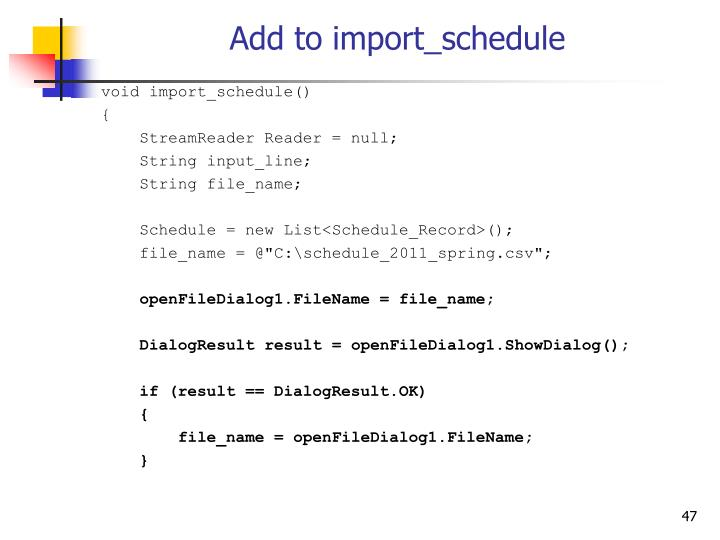 Add to import_schedule