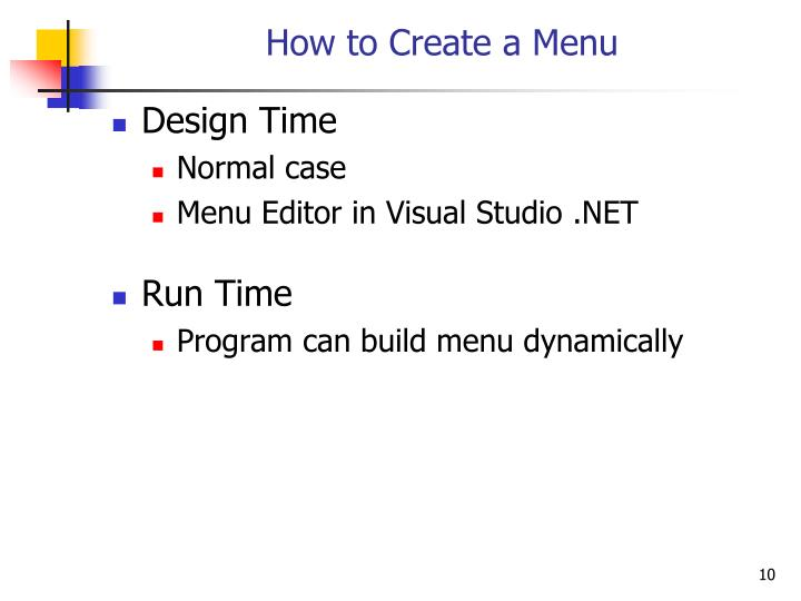 How to Create a Menu