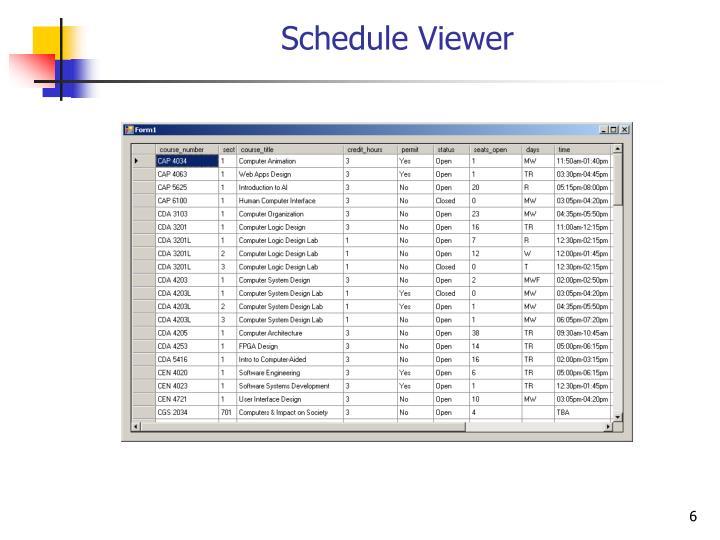Schedule Viewer
