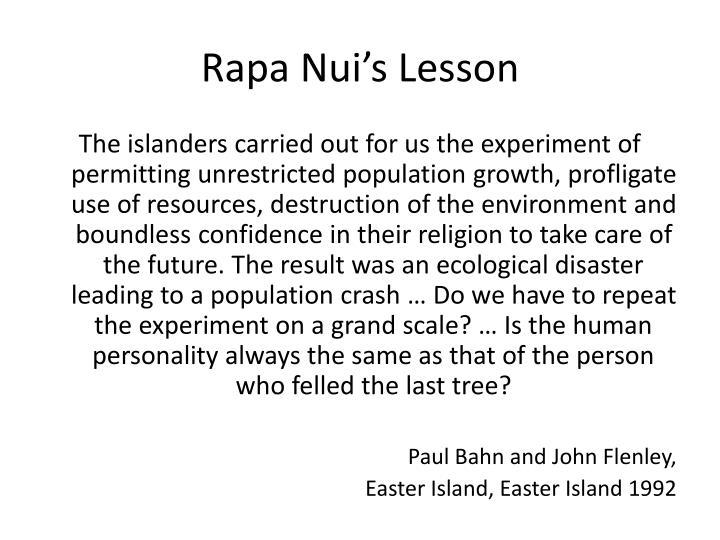 Rapa Nui's Lesson