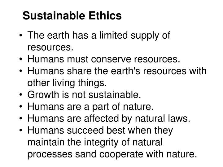 Sustainable Ethics