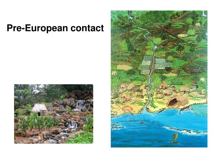Pre-European contact