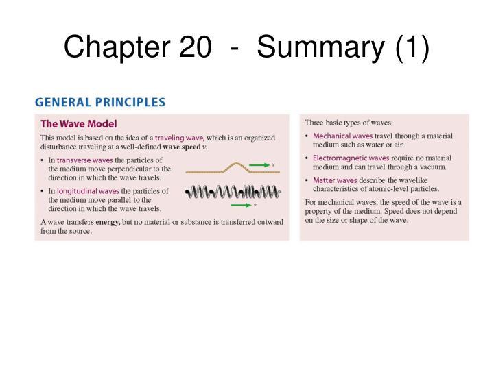 Chapter 20  -  Summary (1)