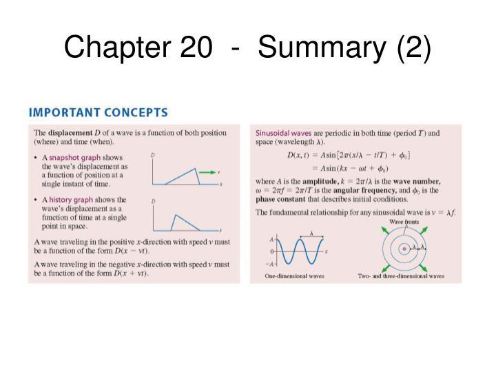 Chapter 20  -  Summary (2)