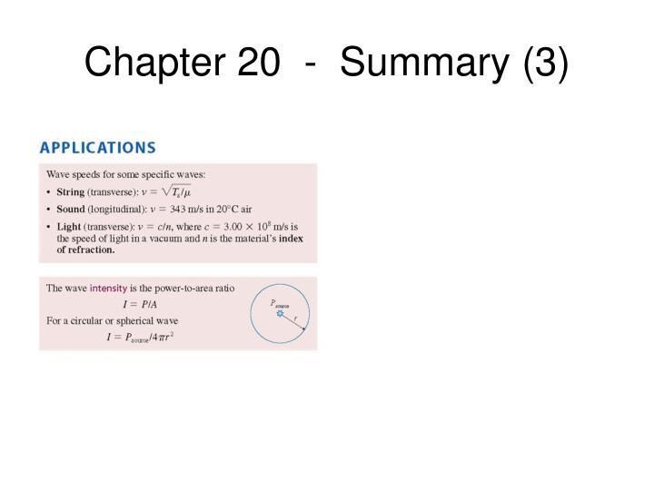 Chapter 20  -  Summary (3)