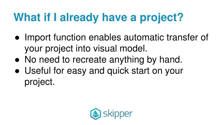 What if I already have a project?