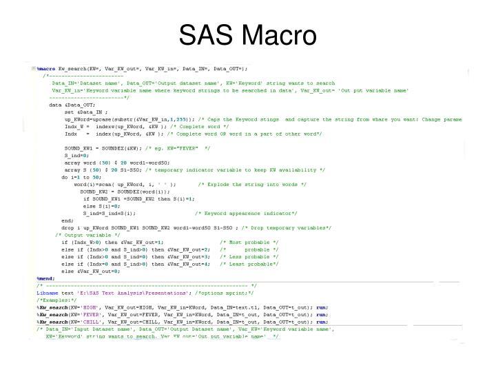 SAS Macro