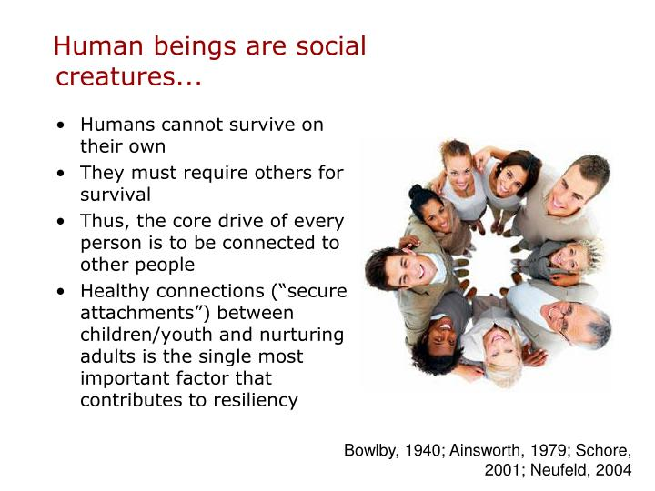 Human beings are social creatures...