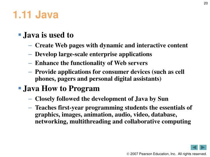 1.11 Java