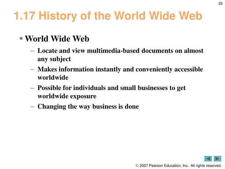 1.17 History of the World Wide Web