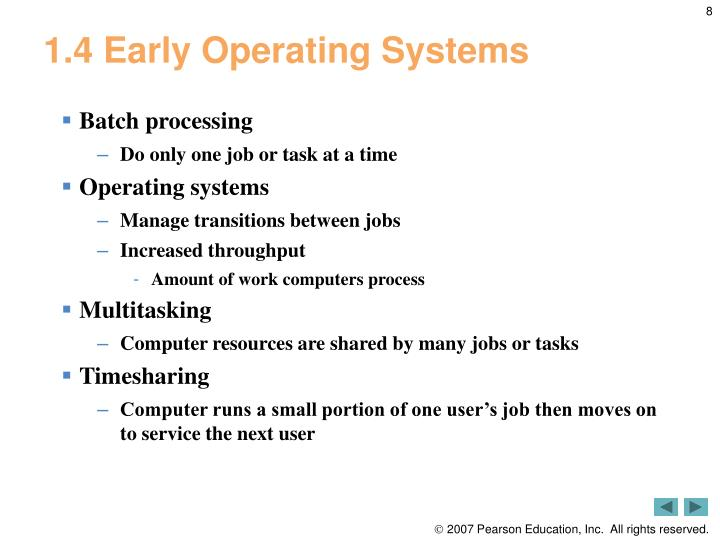 1.4 Early Operating Systems