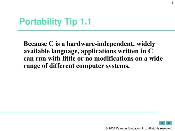Portability Tip 1.1