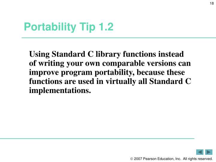 Portability Tip 1.2