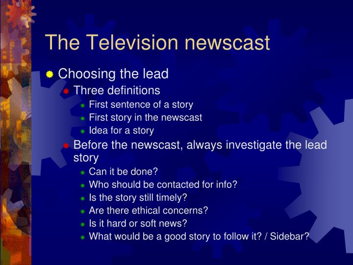 The Television newscast