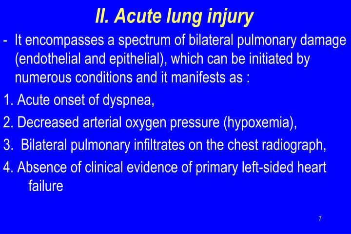 II. Acute lung injury