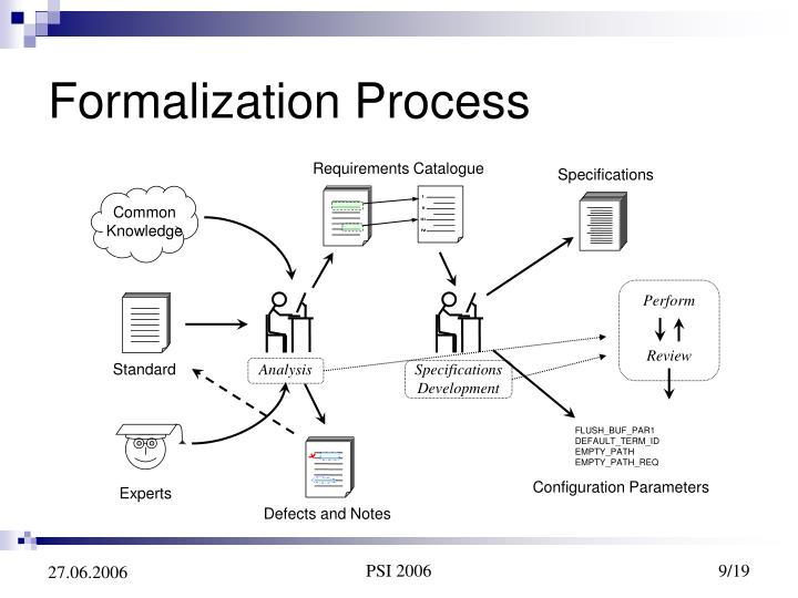 Formalization Process