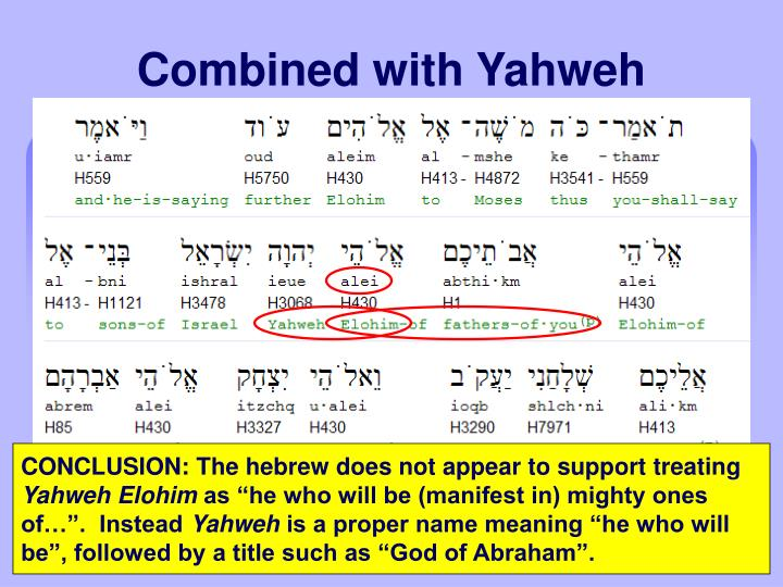 Combined with Yahweh