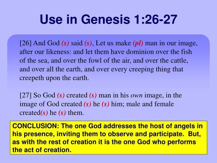 Use in Genesis 1:26-27