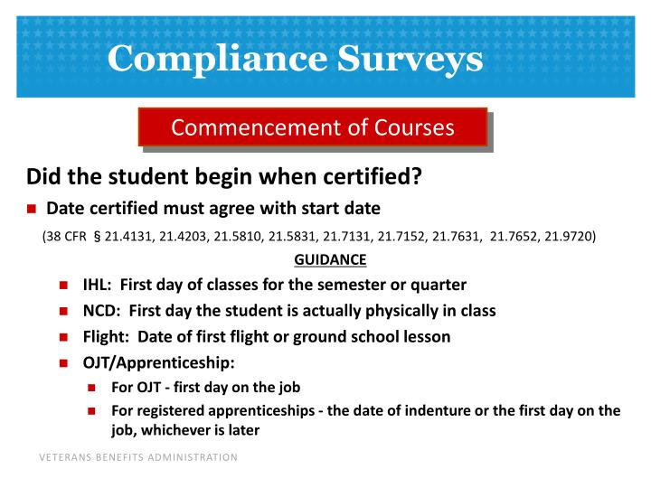 Commencement of Courses