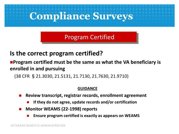 Program Certified