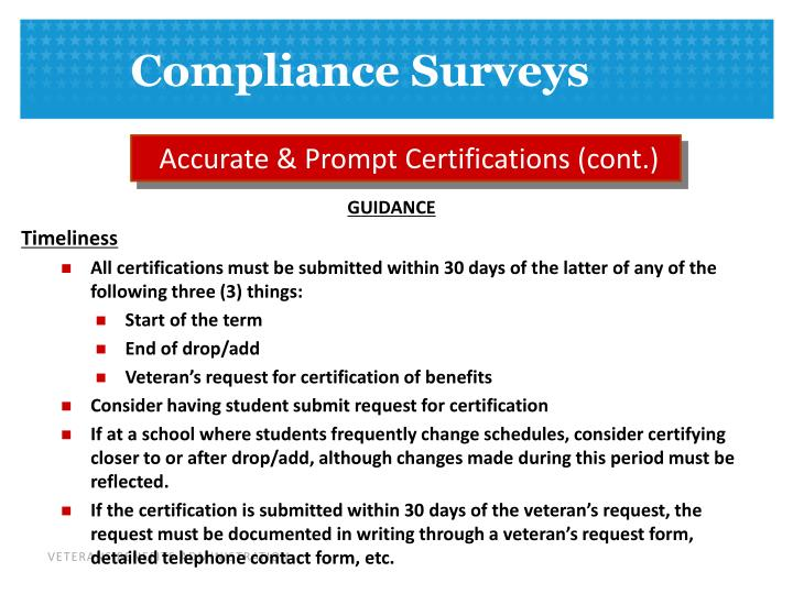 Accurate & Prompt Certifications (cont.)