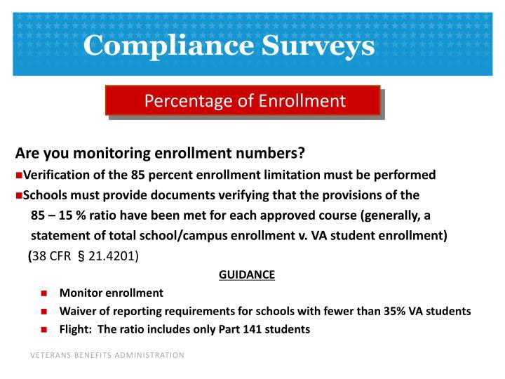 Percentage of Enrollment