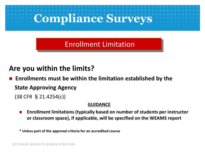 Enrollment Limitation