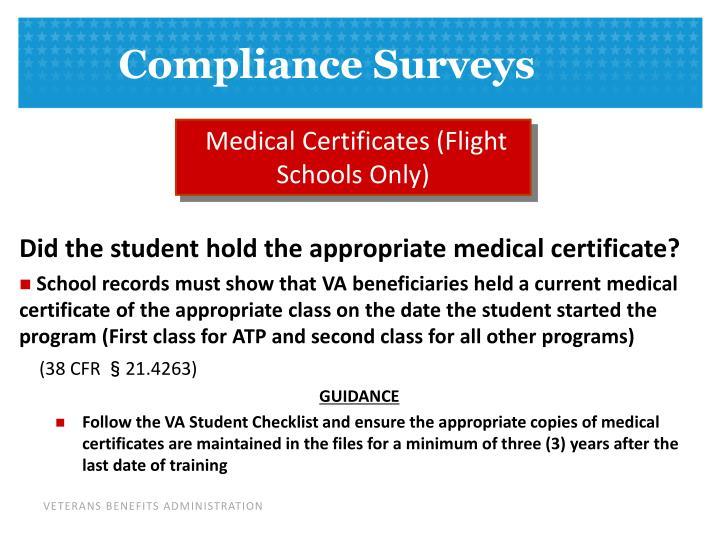 Medical Certificates (Flight Schools Only)