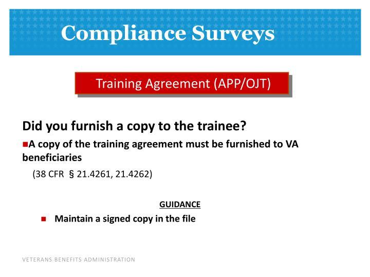 Training Agreement (APP/OJT)
