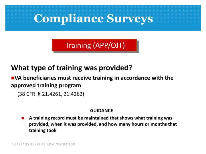 Training (APP/OJT)