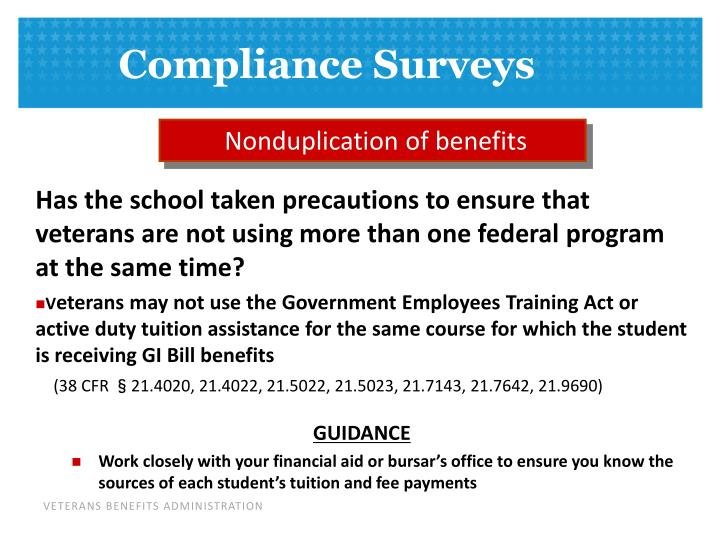 Nonduplication of benefits