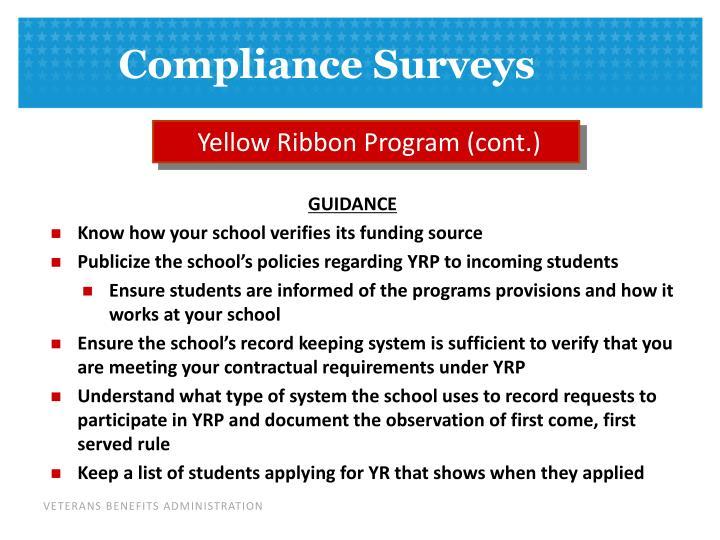 Yellow Ribbon Program (cont.)
