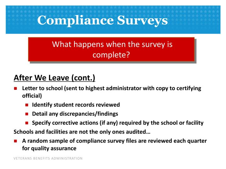 What happens when the survey is complete?