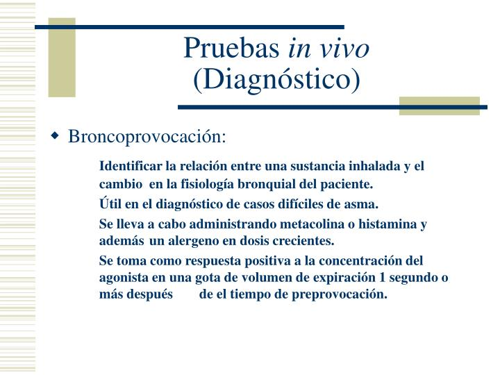 Broncoprovocación: