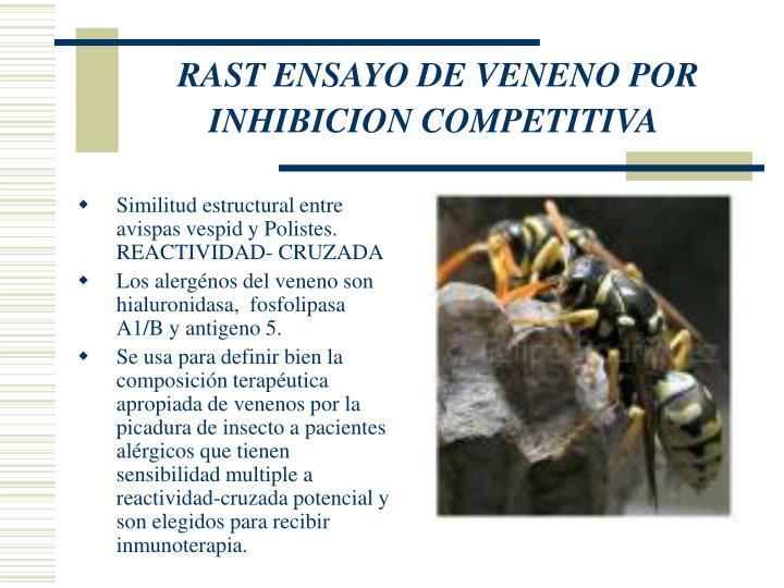 RAST ENSAYO DE VENENO POR INHIBICION COMPETITIVA