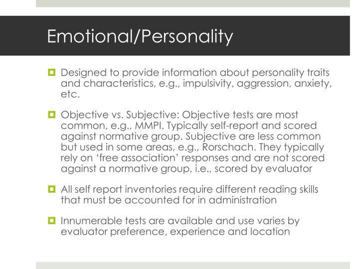 Emotional/Personality