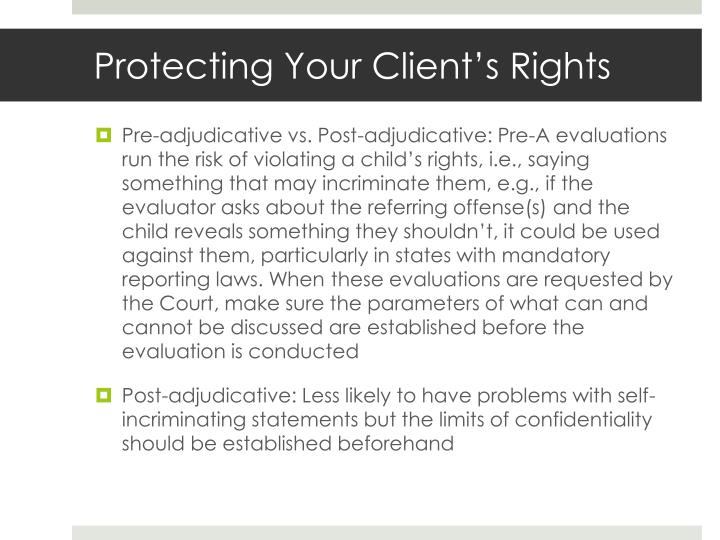 Protecting Your Client