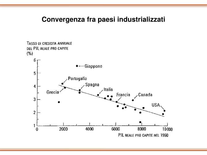 Convergenza fra paesi industrializzati