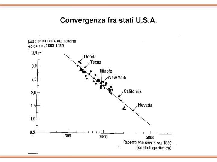 Convergenza fra stati U.S.A.