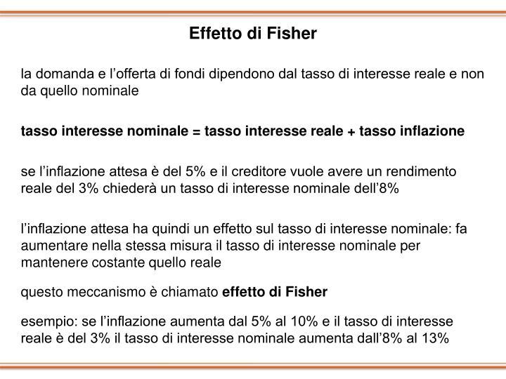 Effetto di Fisher