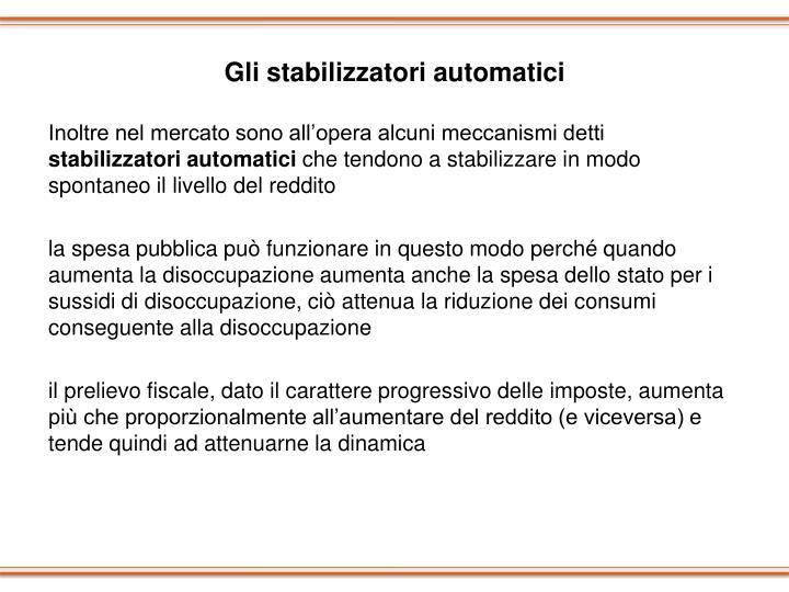 Gli stabilizzatori automatici