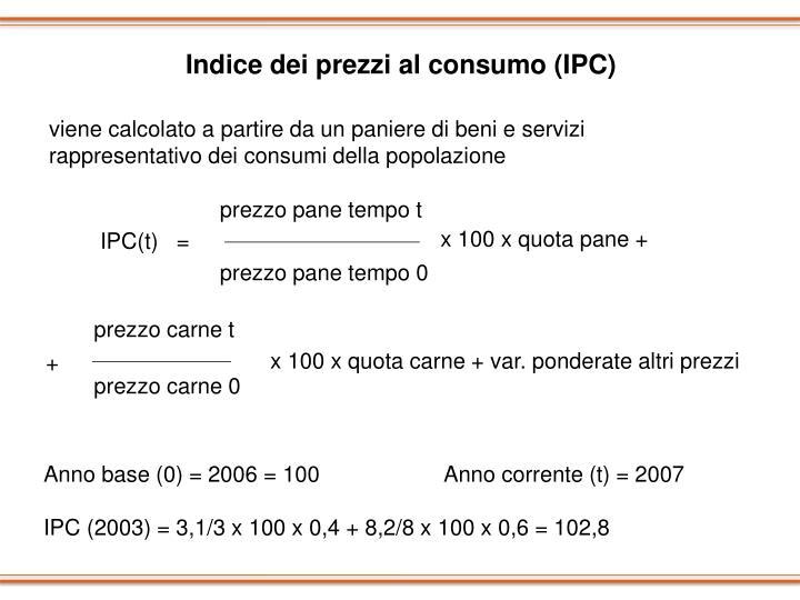 Indice dei prezzi al consumo (IPC)